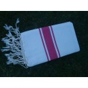Fouta plate sable-rose