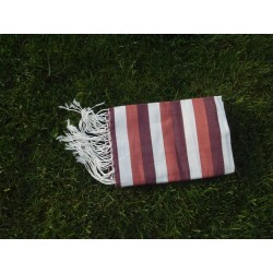 Fouta plate corail rayures transat
