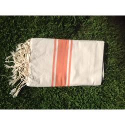 fouta classique sable orange