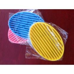 Porte savons silicone ovale
